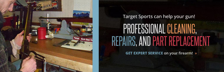 Target Sports can help your gun! Professional cleaning, repairs, and part replacenment. Get expert service on you firearm!