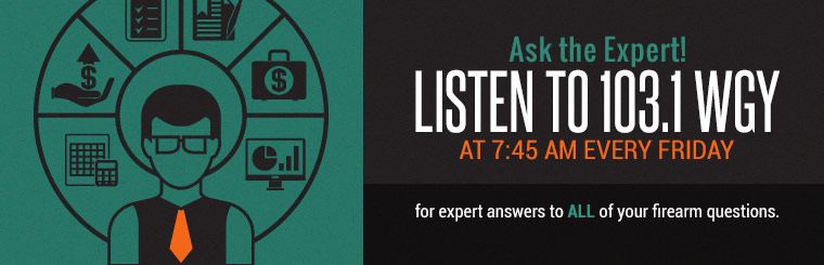 Ask the Expert: Listen to 103.1 WGY at 7:45 AM every Friday for expert answers to all of your firearm questions. Click here to contact us.