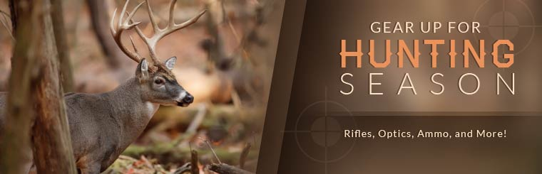 Gear up for hunting season! Click here to browse rifles, optics, ammo, and more!