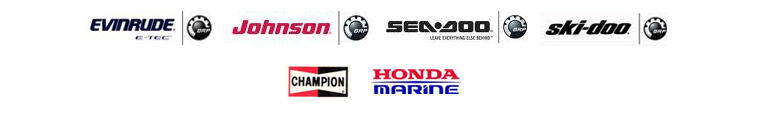 We carry products from Evinrude, Johnson, Ski-Doo, Champion, and Honda Marine.