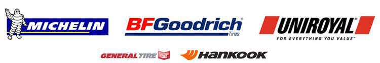 We proudly carry products from Michelin®, BFGoodrich®, Uniroyal®, General, and Hankook.