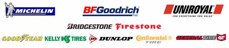 We carry quality products from Michelin®, BFGoodrich®, Uniroyal®, Bridgestone, Firestone, Goodyear, Kelly, Dunlop, Continental, and General.