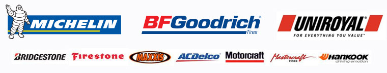 We carry products from Bridgestone, Firestone, Michelin®, BFGoodrich®, Uniroyal®, Maxxis, ACDelco, Motorcraft, Mastercraft, and Hankook.