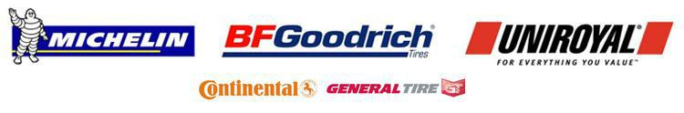 We proudly feature products from Michelin®, BFGoodrich®, Uniroyal®, Continental, and General.