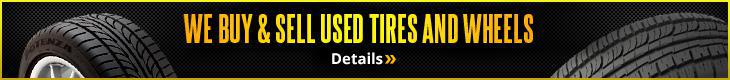 We buy and sell used tires & wheels! Details.