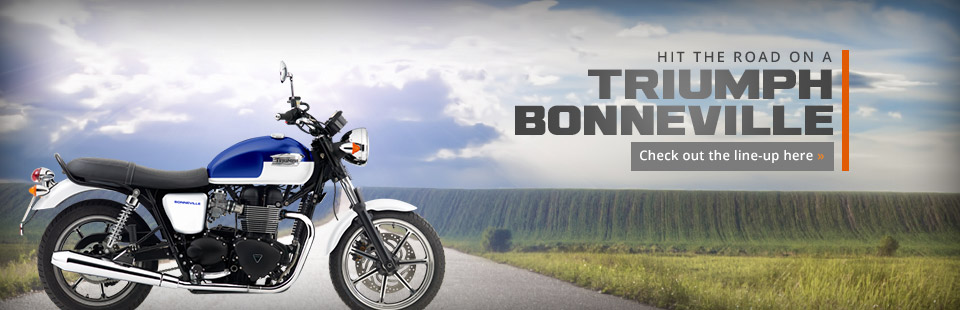 Hit the road on a Triumph Bonneville! Click here to view the showcase.