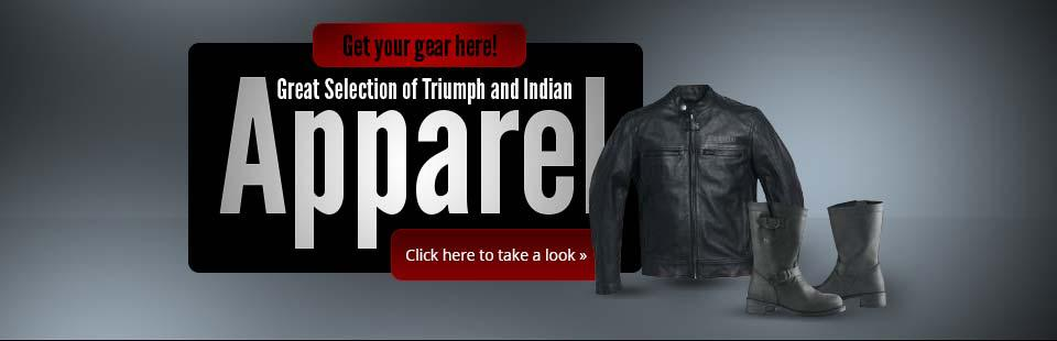 Great Selection of Triumph and Indian Apparel: Click here to take a look.