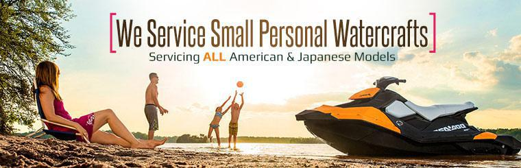 We service small personal watercrafts including all American and Japanese models. Click to request service.