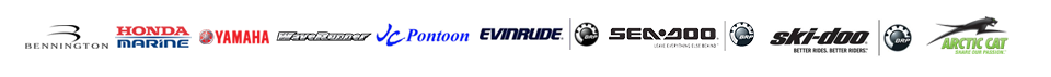 We carry products from Bennington, Honda Marine, Yamaha, Yamaha WaveRunners, JC Pontoon, Evinrude, Sea-Doo, Ski-Doo, and Arctic Cat.