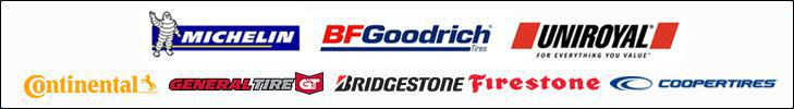 We carry products from Michelin®, BFGoodrich®, Uniroyal®, Continental, General Tire, Bridgestone, Firestone, and Cooper Tires.