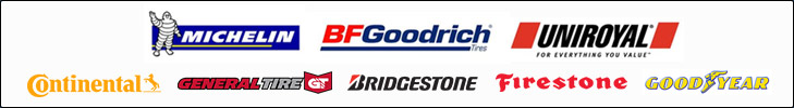 We carry products from Michelin®, BFGoodrich®, Uniroyal®, Continental, General Tire, Bridgestone, Firestone, and Goodyear.