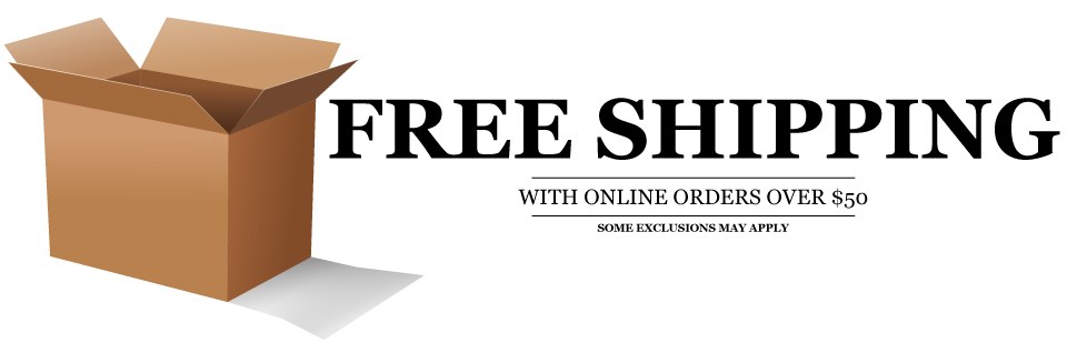 free shipping with online orders over $50