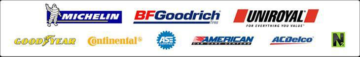 We carry products from Michelin®, BFGoodrich®, Uniroyal®, Goodyear, Continental, and ACDelco. We are ASE certified. We are affiliated with the American Car Care Center. We offer nitrogen service.