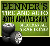 Get Penner's Tire and Auto 40th Anniversary Specials All Year Long