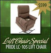 Lift Chair Special - Pride LC-105 Lift Chair