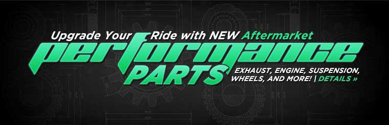 Upgrade your ride with new aftermarket performance parts. Click here to contact us for details.