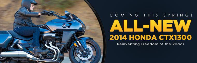 The all-new 2014 Honda CTX1300 motorcycle is coming this spring!