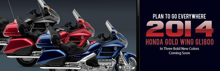 Plan to go everywhere on the 2014 Honda Gold Wing GL1800!
