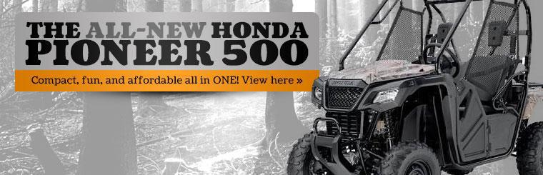 Click here to view the 2015 Honda Pioneer 500.