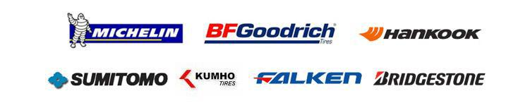 We carry products from Michelin®, BFGoodrich®, Hankook, Sumitomo, Kumho, Falken, and Bridgestone.