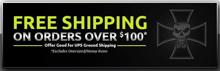 Get free shipping on orders over $100! This offer is good for UPS ground shipping and excludes oversized/heavy items.