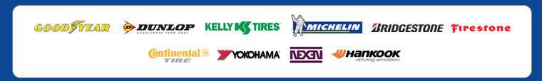 We carry tires from Goodyear, Dunlop, Kelly, Michelin®, Bridgestone, Firestone, Continental, Yokohama, Nexen, and Hankook.