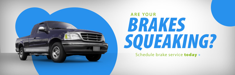 Are your brakes squeaking? Schedule brake service today.