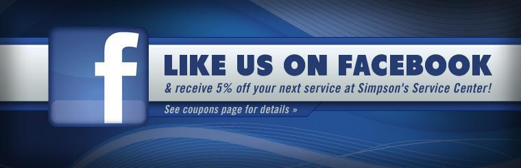 Click here to like us on Facebook and receive 5% off your next service!