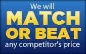 We will match or beat any competitor's price.