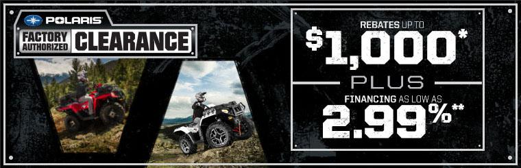 polaris clearance