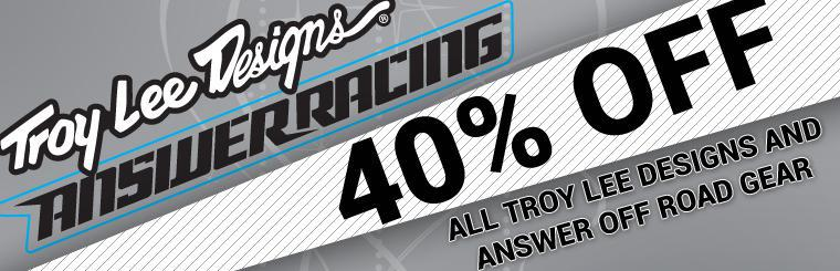 Troy Lee Designs & Answer Off Road Gear Sale