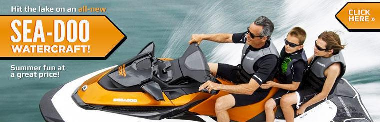 Hit the lake on an all-new Sea-Doo watercraft!