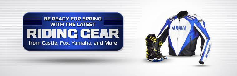 Be ready for spring with the latest riding gear from Castle, Fox, Yamaha, and more!