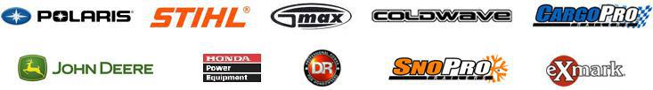 We proudly carry products from Polaris, STIHL, GMAX, ColdWave, CargoPro, John Deere, Honda Power Equipment, DR, SnoPro, and Exmark.