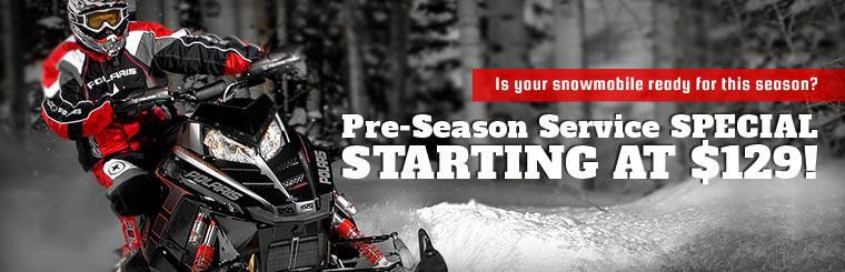 Is your snowmobile ready for this season? Our Pre-Season Service Special starts at $129! Click here for details.