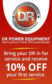 Bring your DR in for service and receive 10% off your first service.