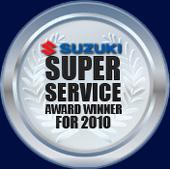 Suzuki Super Service Award Winner for 2010