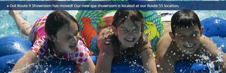 Our Route 9 Showroom has moved! Our new spa showroom is located at our Route 55 location
