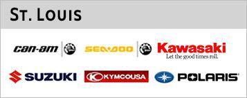 St. Louis carries products by Can-Am, Sea-Doo, Kawasaki, Suzuki, Kymco, and Polaris