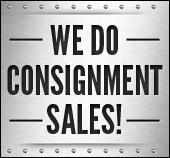 We do consignment sales!