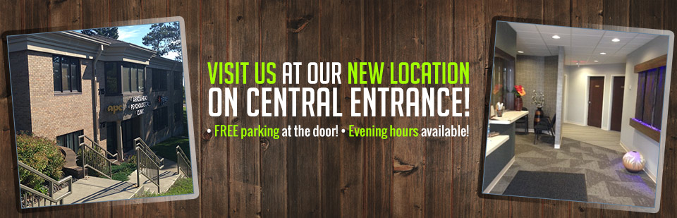 Visit us at our new location on Central Entrance!