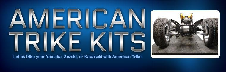 Let us trike your Yamaha, Suzuki, or Kawasaki with American Trike!