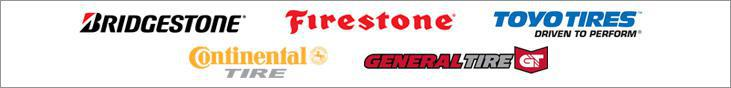We carry products from Bridgestone, Firestone, Toyo, Continental, and General.