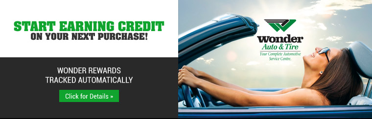 Wonder Rewards: Start earning credit on your next purchase! Contact us for details.