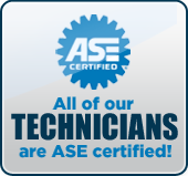 All of our technicians are ASE certified!
