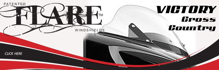 KLOCK WERKS FLARE MOTORCYCLE WINDSHIELDS FOR VICTORY CROSS COUNTRY