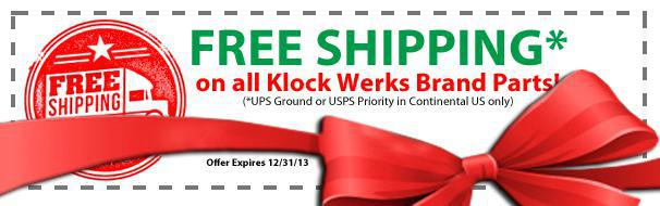 Free Shipping until 12/31/13 on all Klock Werks Products