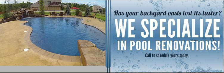 We specialize in pool renovations! Call to schedule yours today.
