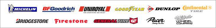 We proudly carry products from Michelin®, BFGoodrich®, Uniroyal®, Goodyear, Dunlop, Continental, Bridgestone, Firestone, General, Pacer, and Ultra Wheels.