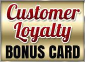 Customer Loyalty Bonus Card
